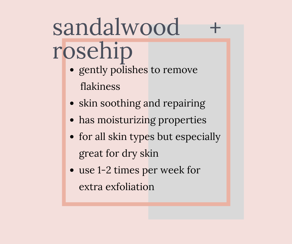 sandalwood and rosehip face mask twinkle apothecary