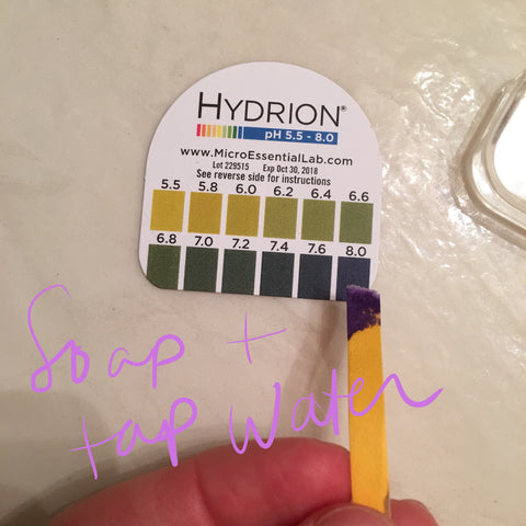 soap + tap water pH level