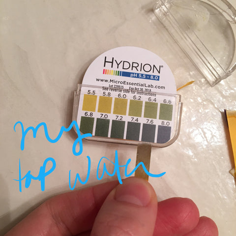 ph balance of tap water