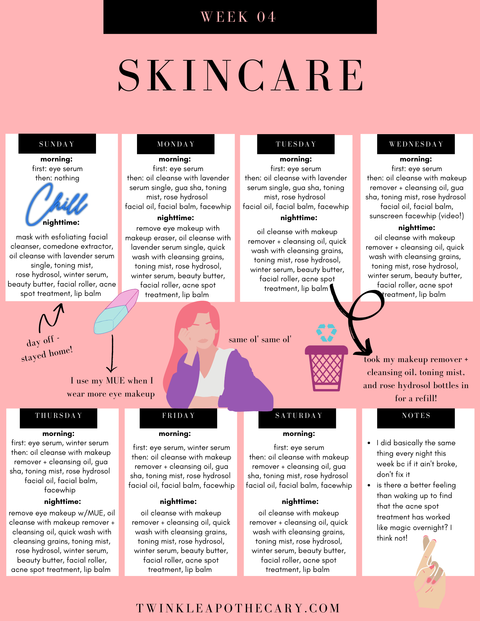 skincare schedule twinkle apothecary