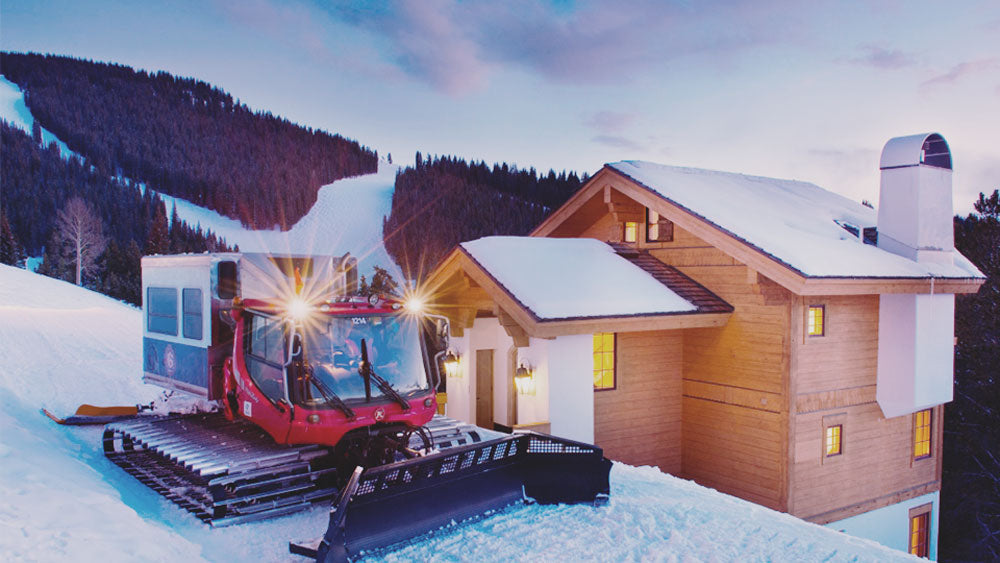 snowgroomer and chalet