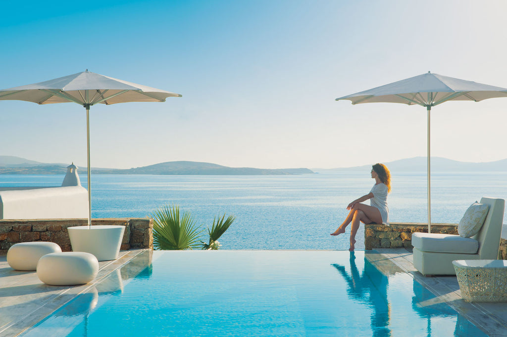 Luxury villa view in Mykonos