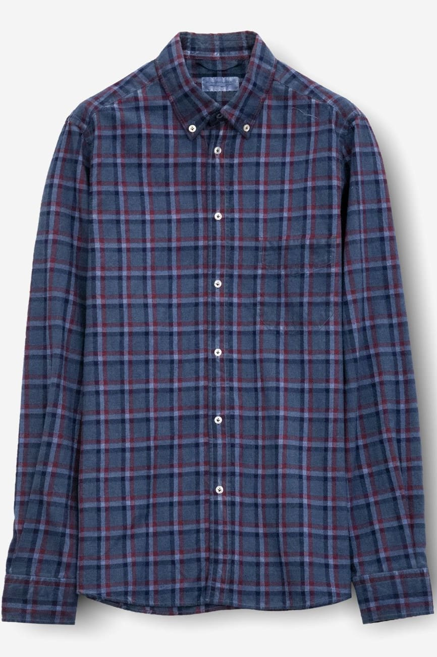 Bow Marine Button Down Check Flannel - Shirts