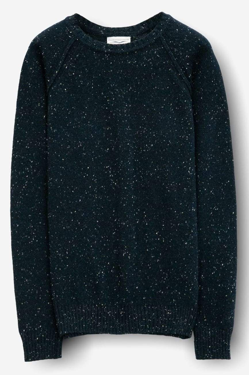 Bristol Navy Donegal Crew Sweater - Sweaters