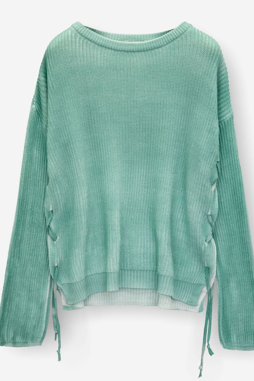 Laced Crew Neck Sweater - Bahama - Sweaters