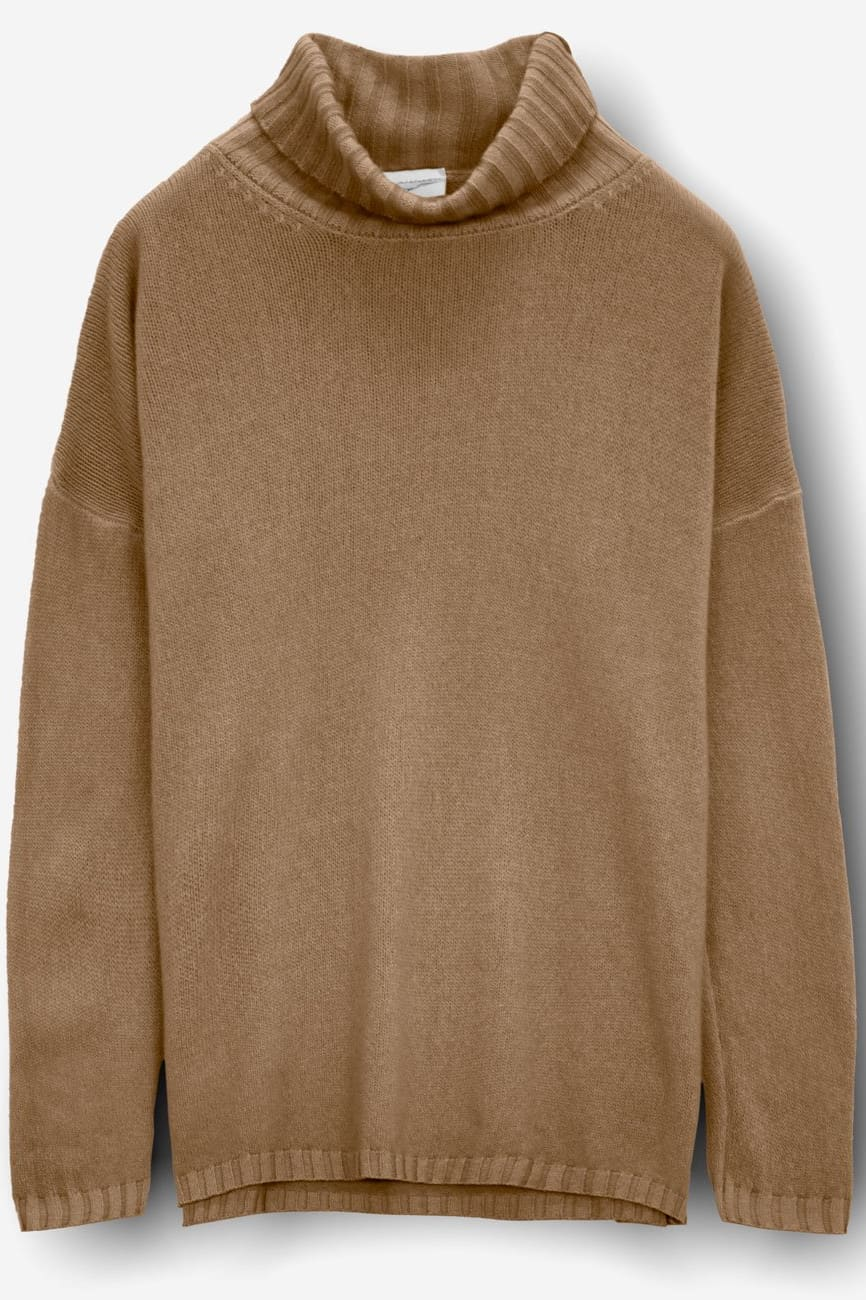 Luib Wood - Women's Turtleneck Cashmere Pullover - Sweaters