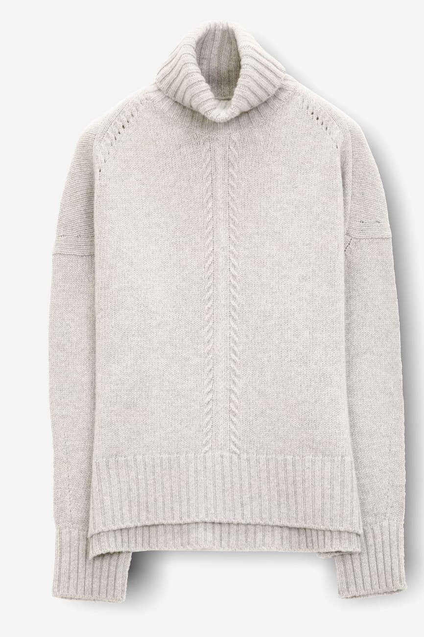 Marion Foam - Women Turtleneck in Cashmere Blend - Sweaters