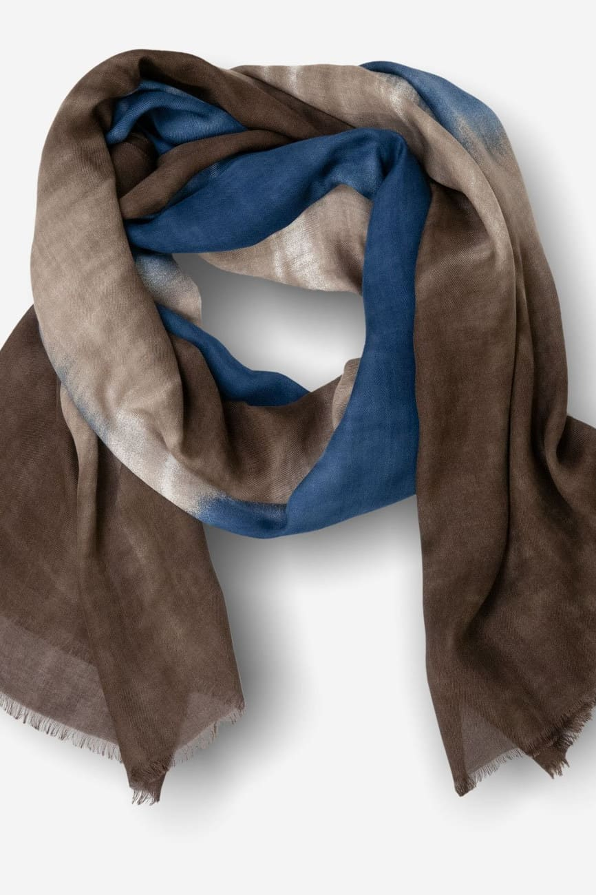 Modal Scarf in Blue & Brown - O/S