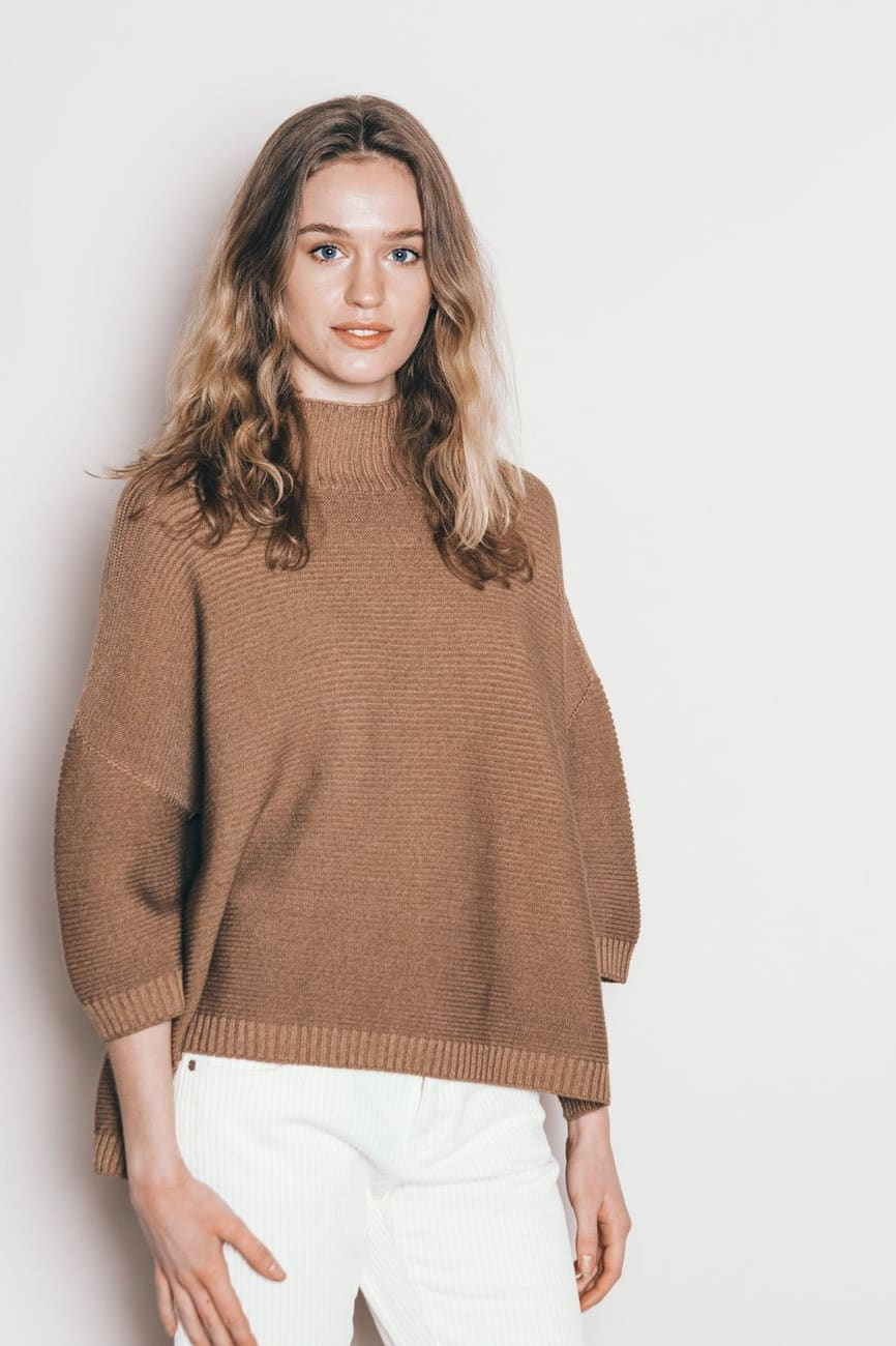 Nedd Wood Relaxed Fit Ribbed Merino Sweater Ploumanac H
