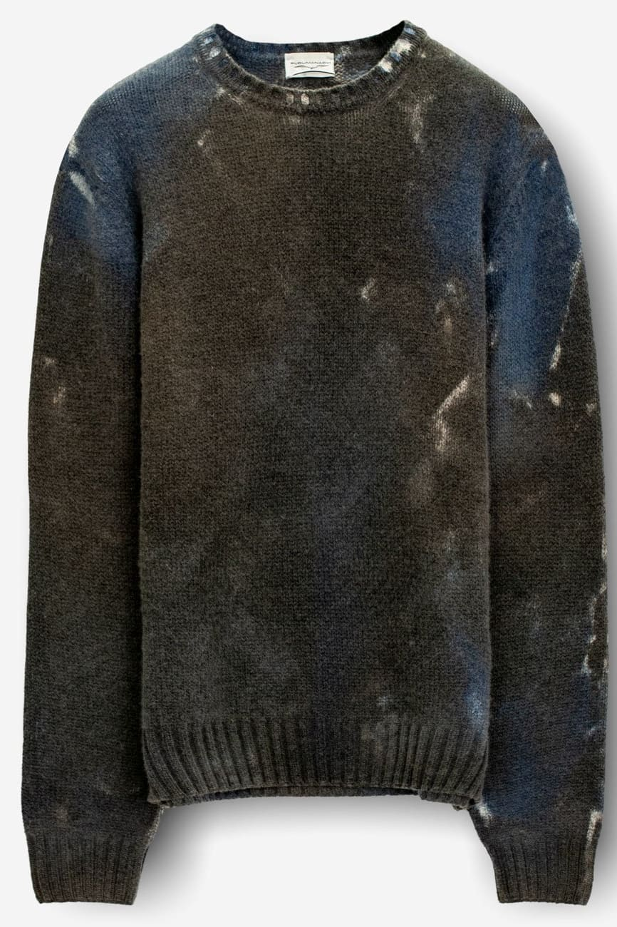 Rockside Thunder Storm Cashmere Blend Crew Sweater -