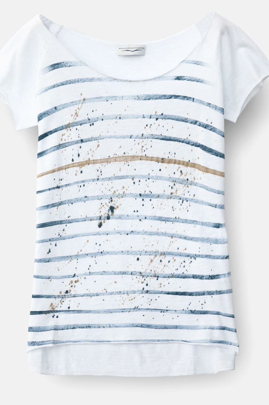 Short Sleeve T-Shirt - Denim Stripes