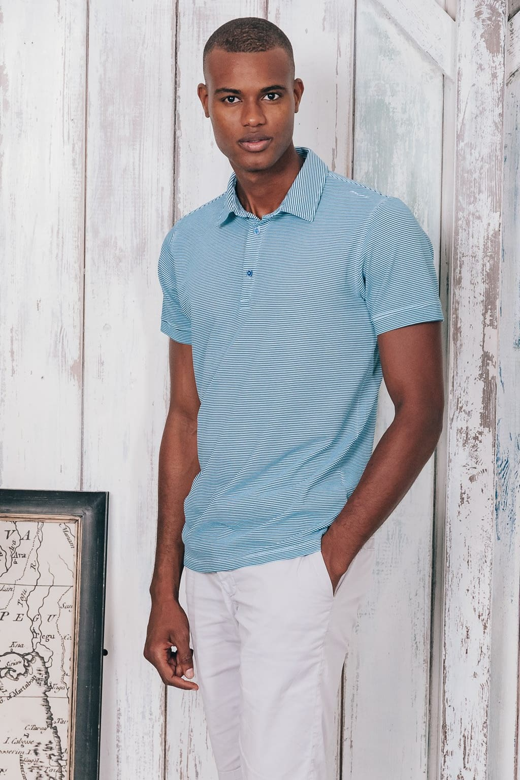 Soft Collar Striped Polo - Bora - Polos
