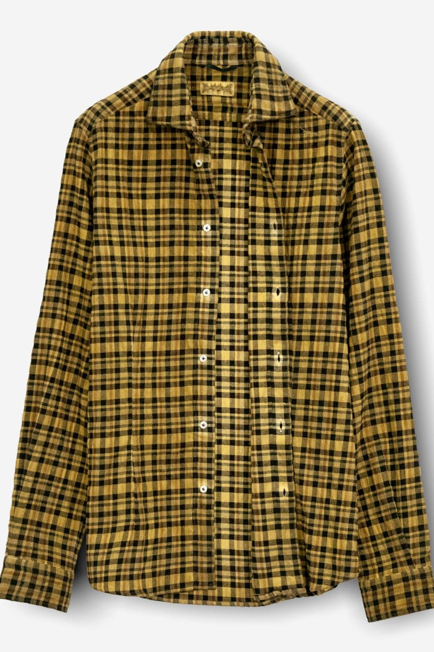 Winch Buoy Spread Collar Thick Flannel - Shirts