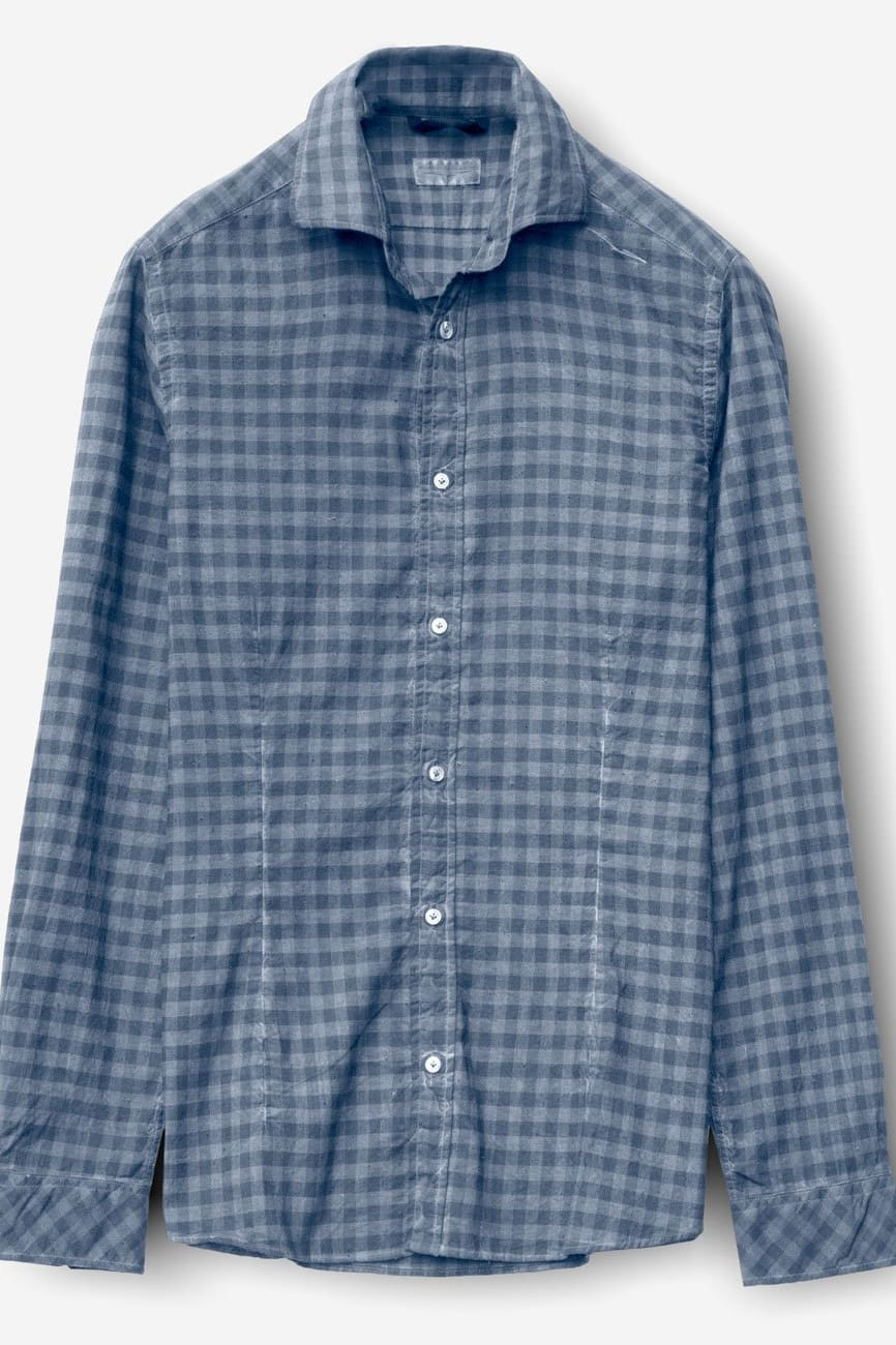 Winch Jeans Spread Collar Check Flannel - Shirts