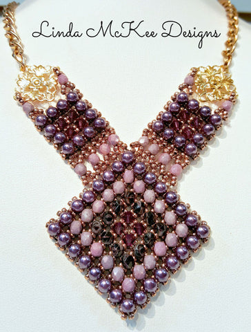 Shades of Purple Beaded Necklace