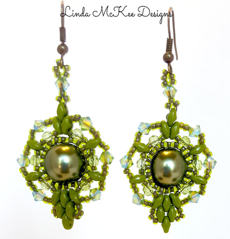 Ice Drop Olive Earrings