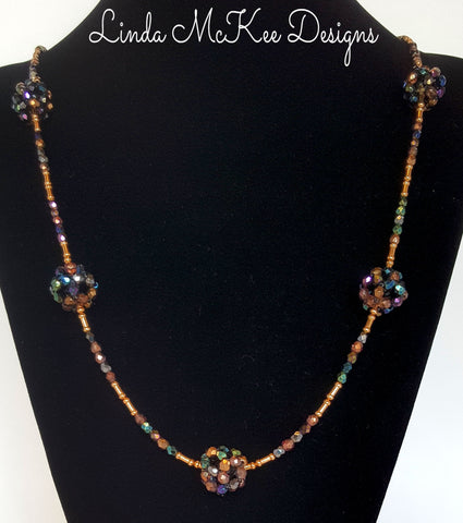 Beaded Ball Long Necklace