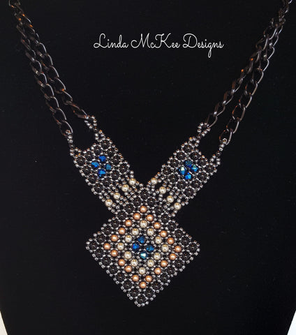 Blue Swarovski Crystal Necklace