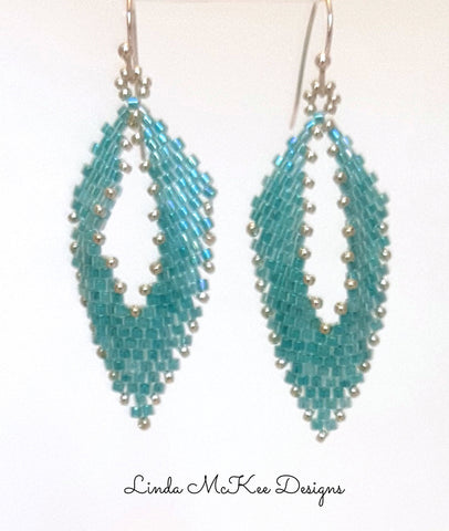Blue Russian Leaf Earrings