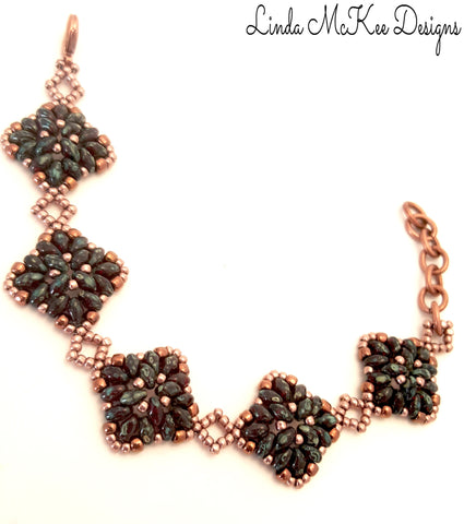 Copper Beaded link Bracelet