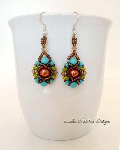 Earthy Beaded Earrings