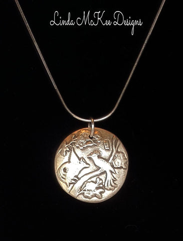 Bird of Paradise Silver Necklace