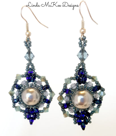Ice Drop Blues Earrings
