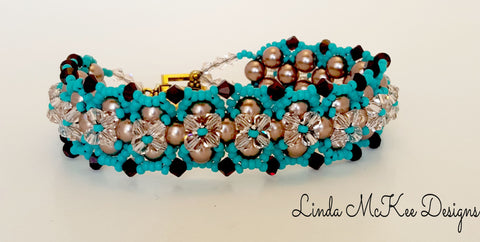 Turquoise Brown Braided Bracelet