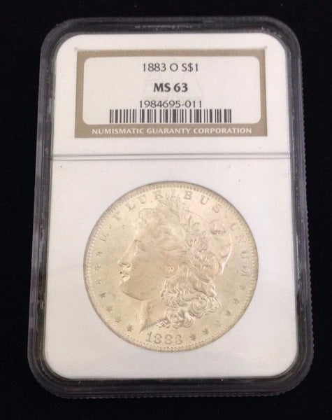 1883 O Morgan Silver Dollar NGC MS 63