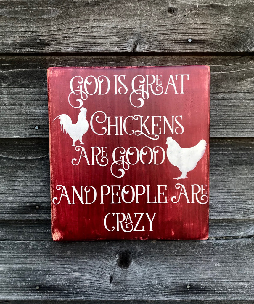 Kitchen Sign, Hand Painted Wood Sign Kitchen Decor Funny Kitchen  Signprimitive Home Decor Chicken Home