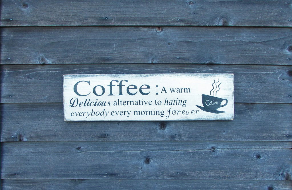 Kitchen sign, coffee kitchen sign, kitchen decor, primitive rustic kitchen decor, funny kitchen sign, christmas gift for mom
