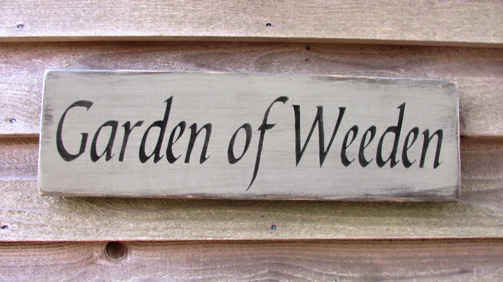 Hand painted garden sign, wood sign, garden decor, primitive rustic decor, country decor, farmhouse decor, funny sign, spring decor, spring