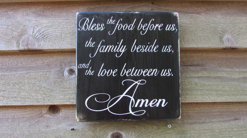 kitchen signs, hand painted wood kitchen signs, Kitchen blessing signs, kitchen decor, primitive home decor, rustic decor, country decor