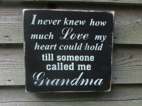 country home decor, wood signs, family sign, grandmother sign, gift for grandma, primitive home decor, rustic home decor