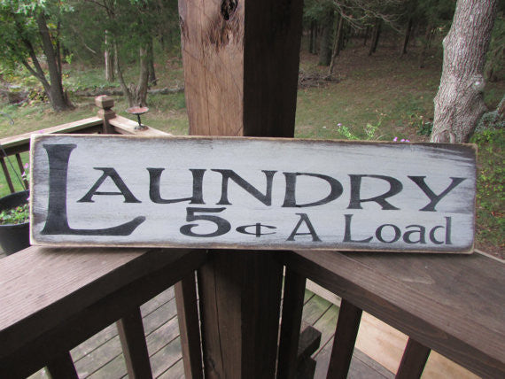 Primitive country home decor, primitive sign, rustic sign, primitive laundry sign, wood signs, hand painted signs