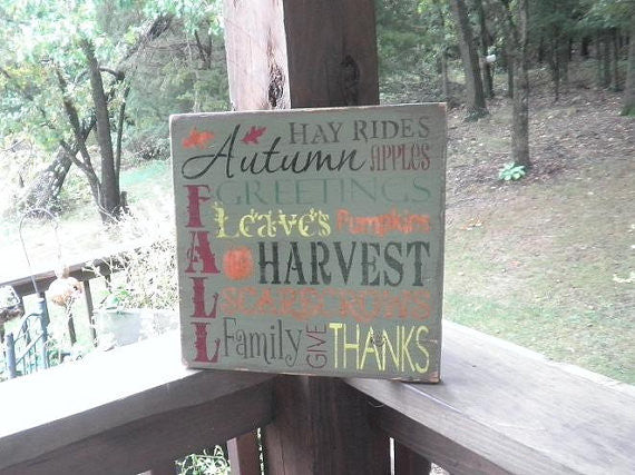 fall decor, autumn decor, primitive rustic country decor , wood signs, hand painted signs, fall dedorations