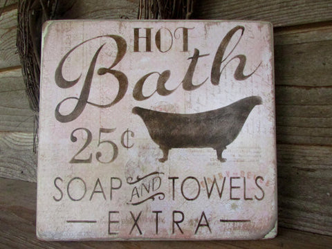 Bathroom décor, wood signs, country home décor, home décor, rustic signs, primitive home décor,