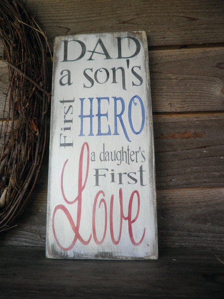 Fathers Day Wooden Signs