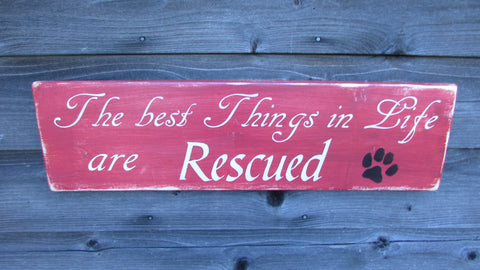 hand painted wood sign. dog sign, dog rescue sign, primitive rustic home decor, primitive sign, wood sign, pet sign