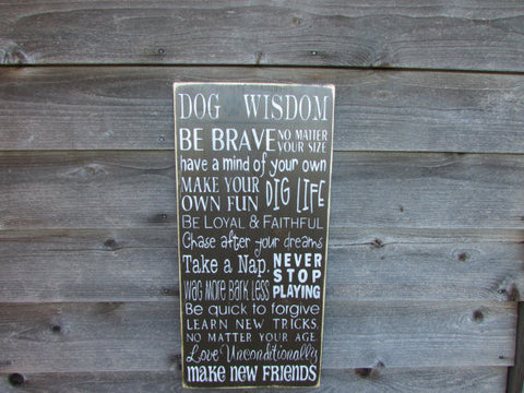 funny dog sign, primitive rustic dog sign by Mockingbird Primitive