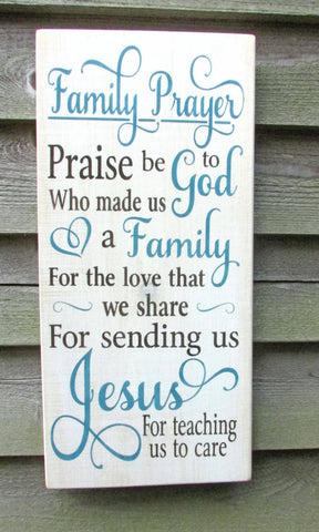 family rules sign, family prayer sign, primitive home decor, shabby chic sign, rustic home decor. wedding gift, religious sign