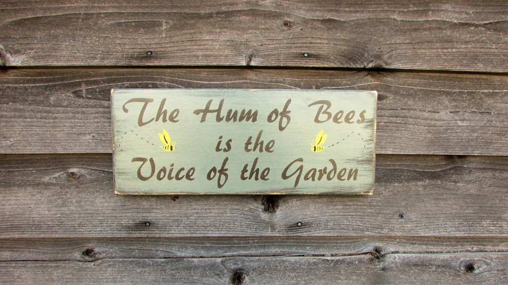 porch decor, garden decor, primitive garden decor, rustic garden decor, hand painted wood sign, outdoor decor, country decor