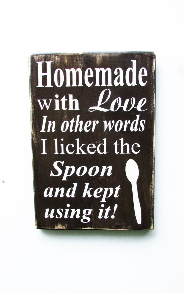 Kitchen Sign Hand Painted Wood Decor Funny Sig Mockingbird Primitive