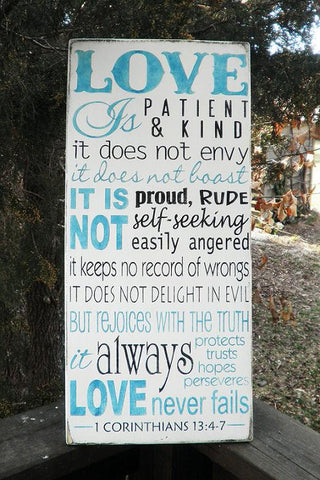 Love is Patient love is kind. ,1 corinthians 13:4-7 ,  Love family sign, family sign, family rules sign, love rules sign