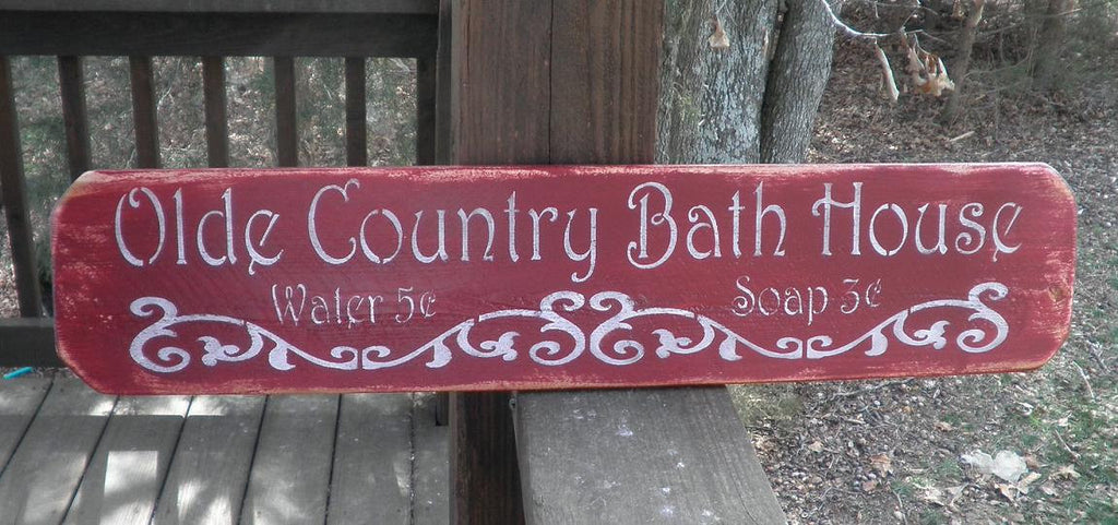 Bathrooom decor, country home decor, wood signs,Bath sign,home decor, primitive home decor, wood sign, bathroom sign,country decor, sign