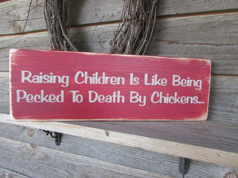 primitive country, family rules wood sign, distressed, hand painted, funny sign, mom, wall hanging, home decor, chickens, roosters, rustic