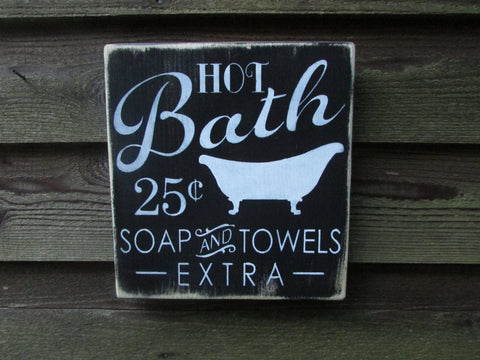 Bathroom sign, bathroom decor, primitive country decor, country home decor, wood signs, home decor, hand painted sign, distressed sign, sign