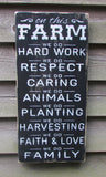On this Farm we do, Farm rules, farm family rules, family rules, primitive country decor, country decor, wood sign, hand painted sign