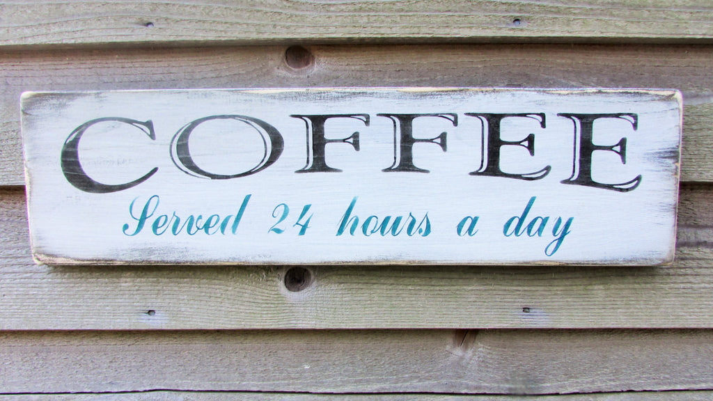 coffee sign, primitive sign, rustic sign, primitive kitchen decor, kitchen decor, hand painted wood sign, rustic home decor,kitchen decor
