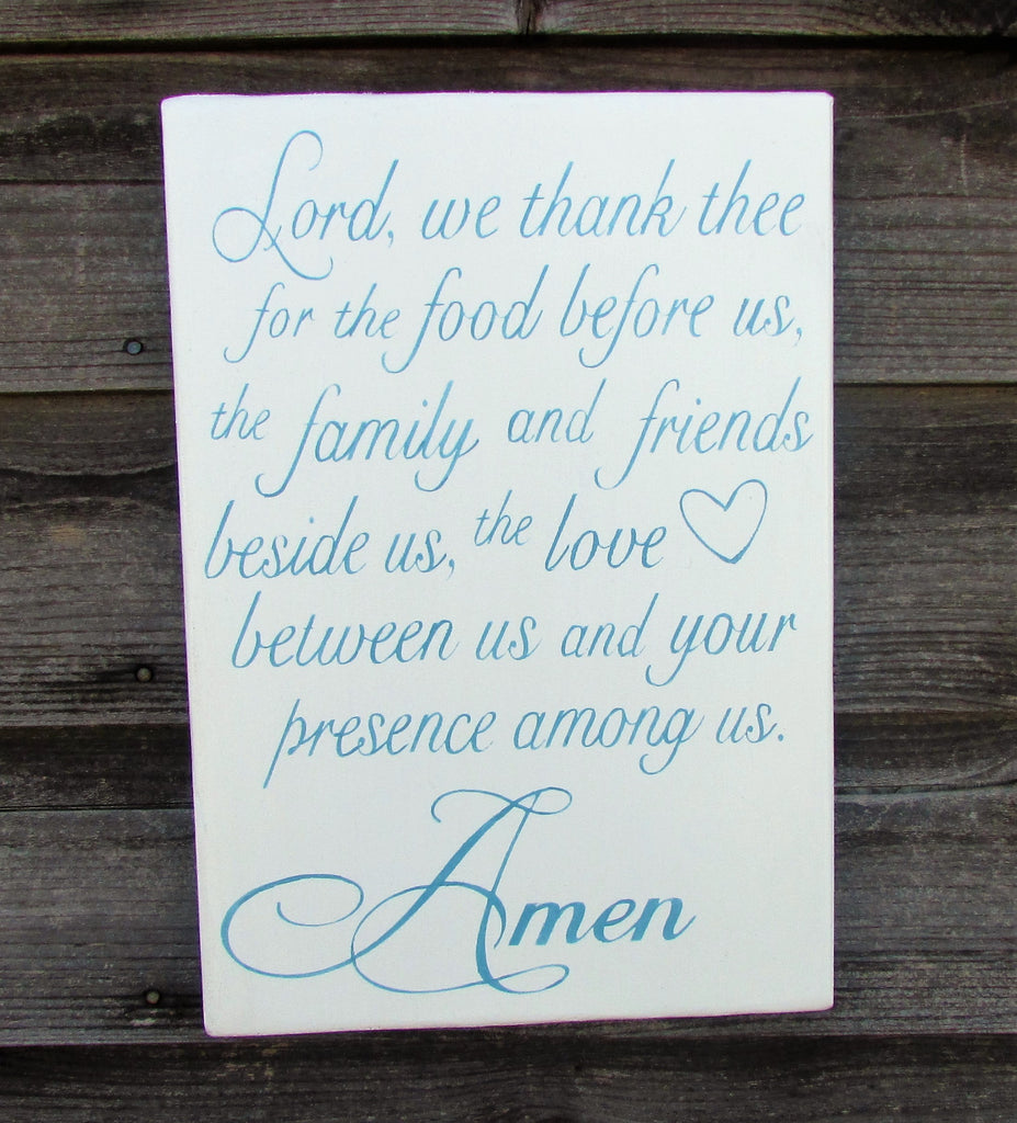 hand painted wood kitchen sign, kitchen sign, white kitchen sign, kitchen prayer sign, kitchen decor, shabby chic kitchen decor, farmhouse